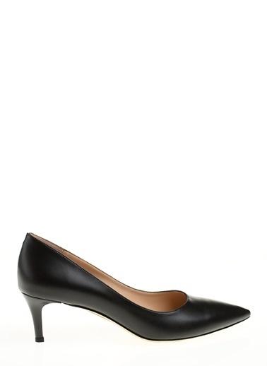 D by Divarese İnce Topuklu Sivri Burun Ayakkabı Siyah